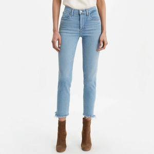 Levi's High Rise 724 Straight Crop Jeans